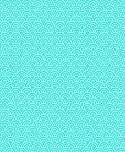 "Turquoise Scallops 12"" x 18"" Printed Cardstock - SPAC017"