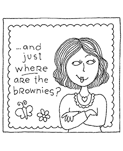 Where Are Brownies Wood Mount Stamp M2-0190J