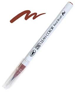 ZIG Clean Color Real Brush, Brown - RB6000AT-060