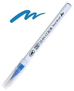 ZIG Clean Color Real Brush, Cornflower Blue - RB6000AT-037