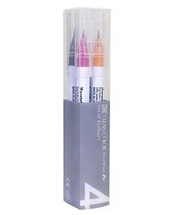 ZIG Clean Color Real Brush Deep 4 Color Set - RB6000AT-4VD