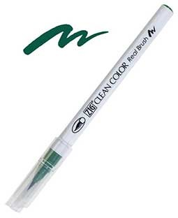 ZIG Clean Color Real Brush, Deep Green - RB6000AT-044