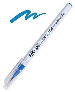 ZIG Clean Color Real Brush, Dull Blue - RB6000AT-034