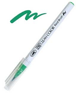 ZIG Clean Color Real Brush, Emerald Green - RB6000AT-048