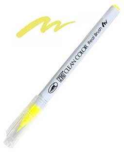 ZIG Clean Color Real Brush, Fluorescent Yellow - RB6000AT-001