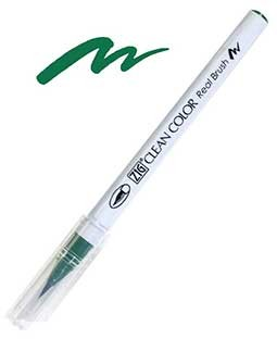 ZIG Clean Color Real Brush, Green - RB6000AT-040