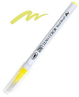 ZIG Clean Color Real Brush, Lemon Yellow - RB6000AT-051