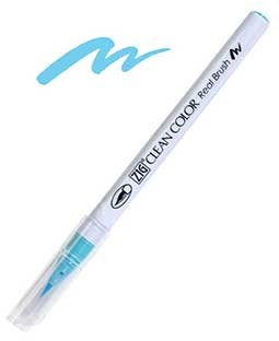 ZIG Clean Color Real Brush, Light Blue - RB6000AT-036