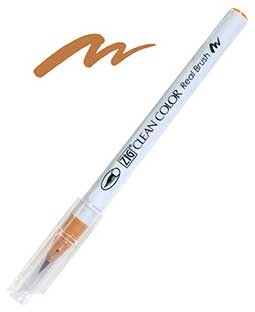 ZIG Clean Color Real Brush, Light Brown - RB6000AT-061