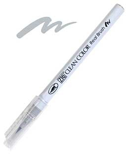 ZIG Clean Color Real Brush, Light Gray - RB6000AT-091