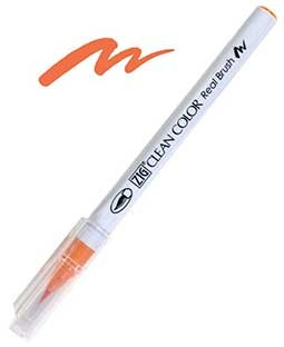 ZIG Clean Color Real Brush, Orange - RB6000AT-070
