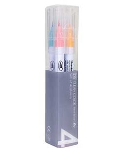 ZIG Clean Color Real Brush Pale 4 Color Set - RB6000AT-4VA