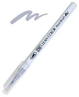 ZIG Clean Color Real Brush, Pale Gray - RB6000AT-097
