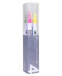 ZIG Clean Color Real Brush Pop 4 Color Set - RB6000AT-4VB