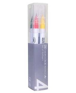 ZIG Clean Color Real Brush Pure 4 Color Set - RB6000AT-4VC