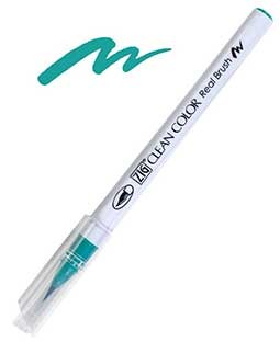 ZIG Clean Color Real Brush, Turquoise Green - RB6000AT-042