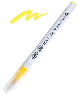 ZIG Clean Color Real Brush, Yellow - RB6000AT-050
