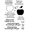 Apple for Teacher Clear Stamp Set - 11377SC