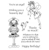 Hattie Lace Birthday Wishes Clear Stamp Set 11181MC