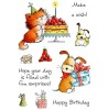 Maria Woods Birthday Delights Clear Stamp Set - 11259MC