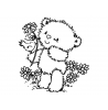 Maria Woods Chickpea's Perching Friend Wood Mount Stamp H1-0731F