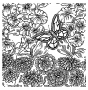 Nancy Baier Butterfly Background Cling Mount Stamp CLB-002