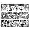 Nancy Baier Flowers & Flourishes Cling Mount Stamp Set CLS-004