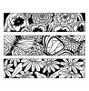 Nancy Baier Large Blooms & Butterflies Cling Mount Stamp Set CLS-002