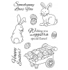 Nancy Baier Rabbit & Cart Clear Stamp Set 11165MC