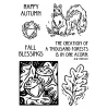 Nancy Baier Squirrel & Acorns Clear Stamp Set 11200MC