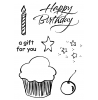 Rob Lueschke Brushed Cupcake Clear Stamp Set 11246MC