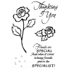 Rob Lueschke Brushed Roses Clear Stamp Set 11242MC