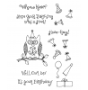 Ronnie Walter Owl Birthday Clear Stamp Set 10966MC