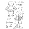 Ronnie Walter Summer Party Guys Clear Stamp Set 11305MC