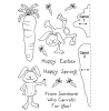 Tammy DeYoung Carrot Bunny Clear Stamp Set 11029MC