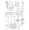 Tammy DeYoung Flower Chick Clear Stamp Set 11151MC