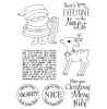 Tammy DeYoung Santa's List Clear Stamp Set 11190MC