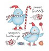 Tammy DeYoung Snow Birdies Clear Stamp Set 11058SC
