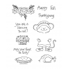 Tammy DeYoung Thanksgiving Millie Clear Stamp Set 11000MC