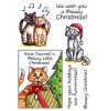 Trudy Sjolander Punny Christmas Cats Clear Stamp Set 11124MC