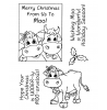 Trudy Sjolander Punny Christmas Cows Clear Stamp Set 11125MC