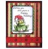 Trudy Sjolander Punny Christmas Frogs Clear Stamp Set 11126MC